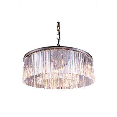 Sydney 10-Light Polished Nickel Chandelier with Clear Crystal
