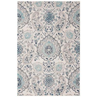 Madison Cream/Light Gray 6 ft. 7 in. x 9 ft. 2 in. Area Rug