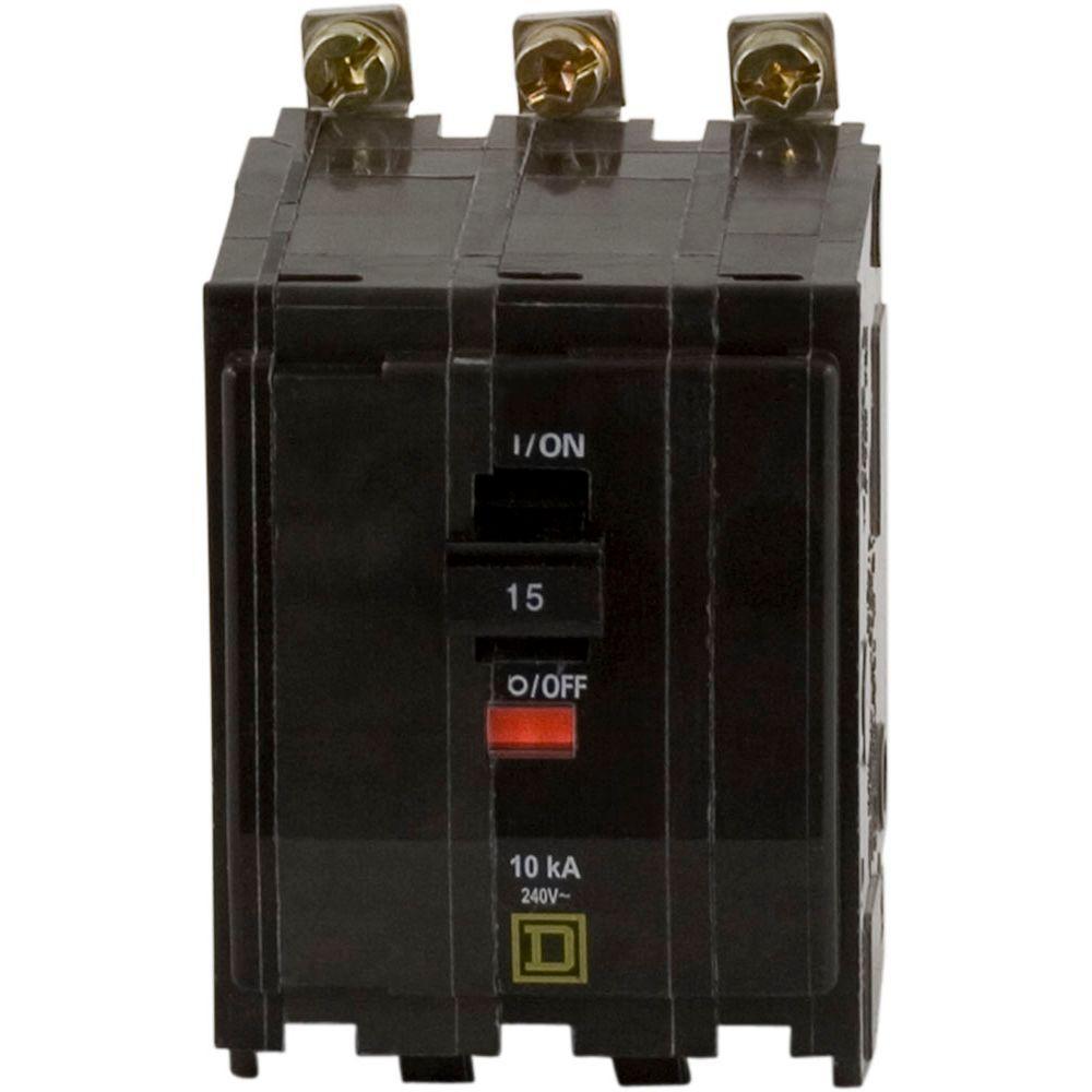 QO 15 Amp 3-Pole Bolt-On Circuit Breaker