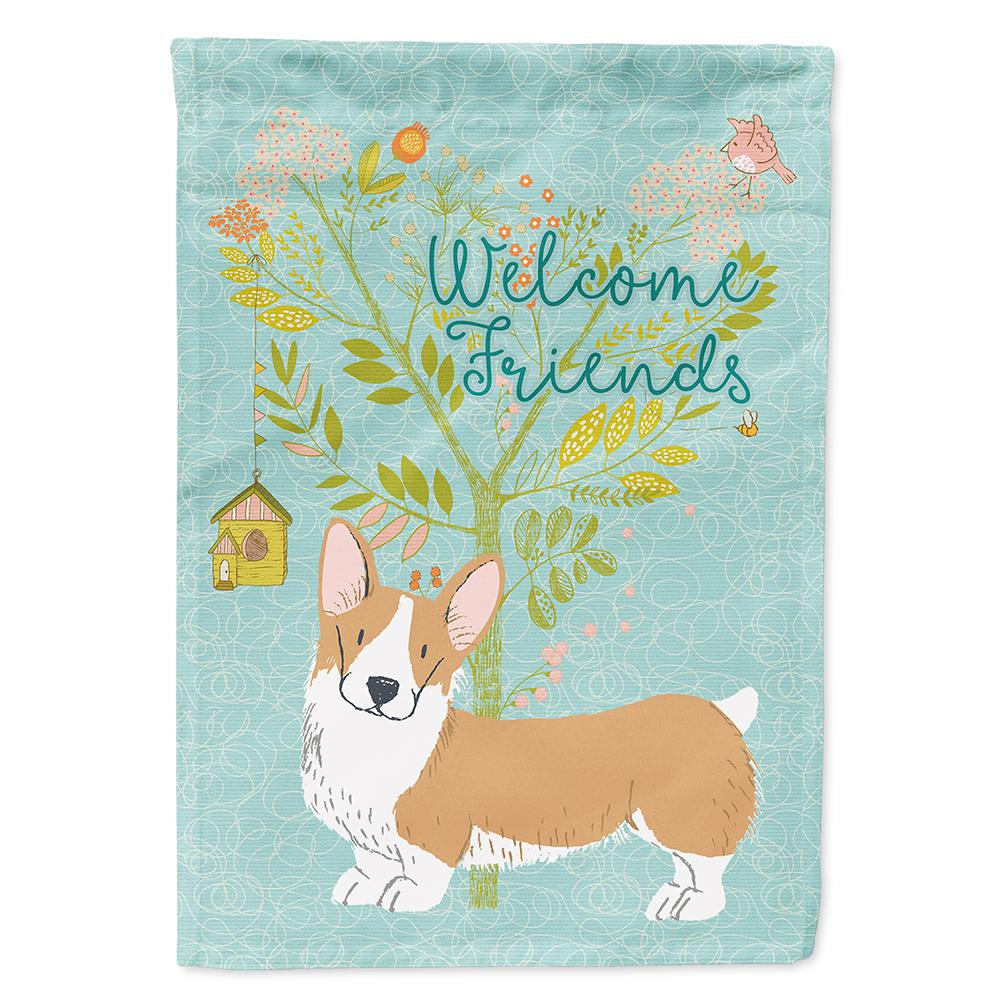 Welsh Corgi Welcome Dog Garden Banner Flag 11x14 to 12x18 Pet Yard Decor Breed
