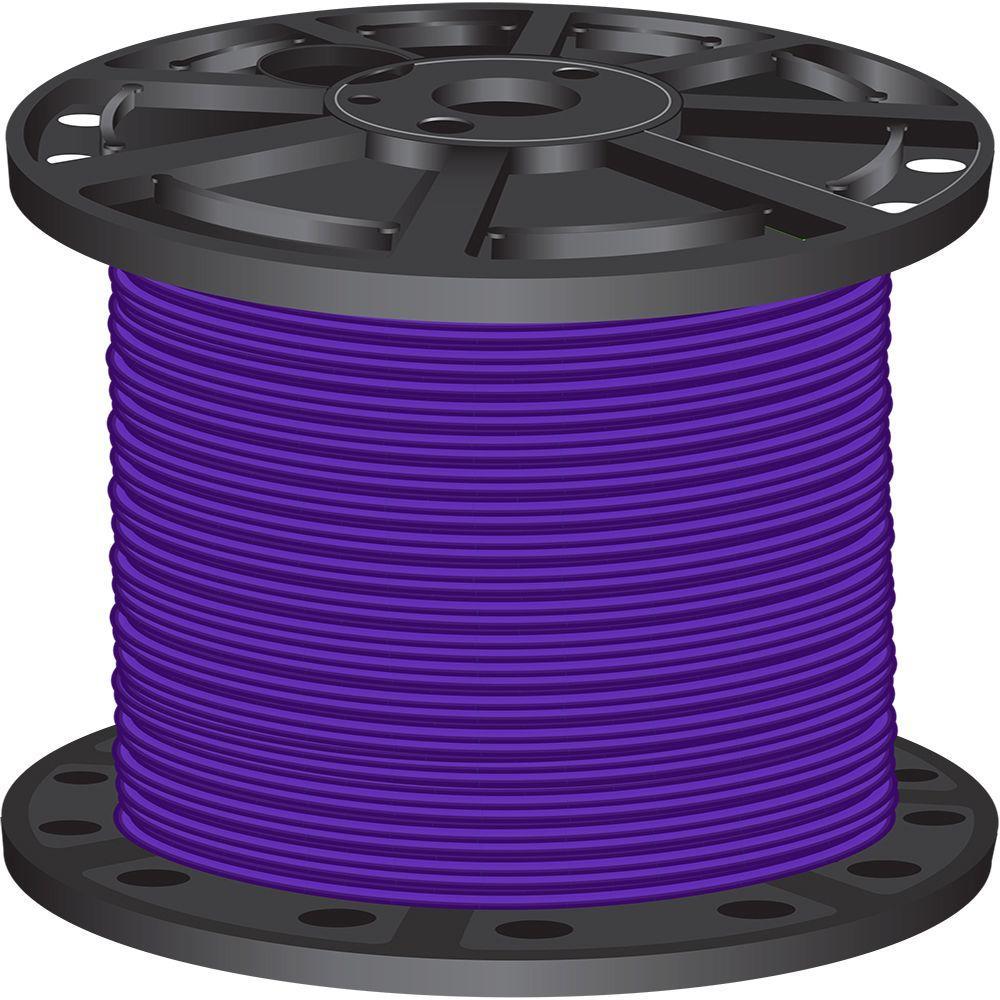 1,000 ft. 6 Purple Stranded CU SIMpull THHN Wire