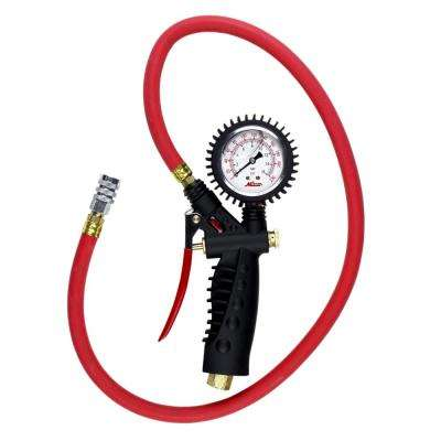 Pro Analog Pistol Grip Inflator Gauge with 36 in. Hose and Kwik Grip Safety Chuck