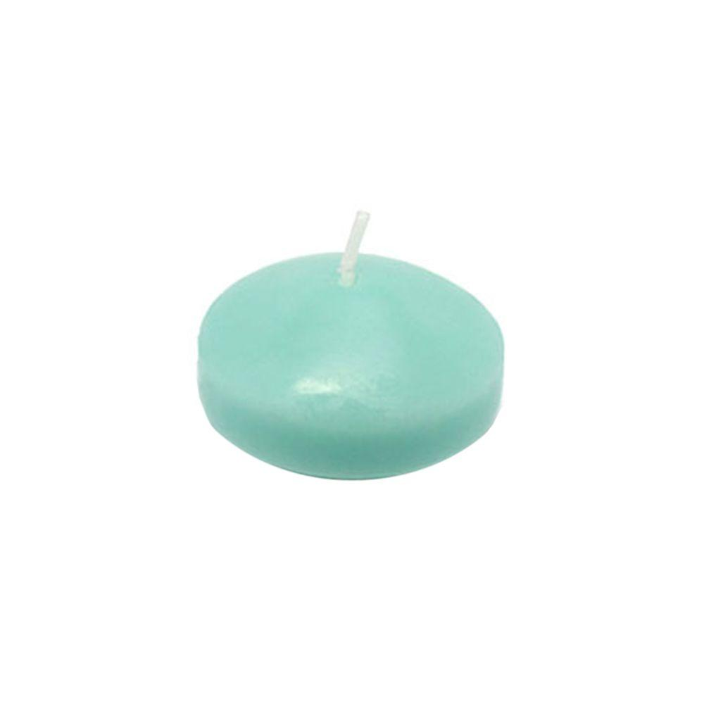 Zest Candle 1.75 in. Aqua Floating Candles (Box of 24)