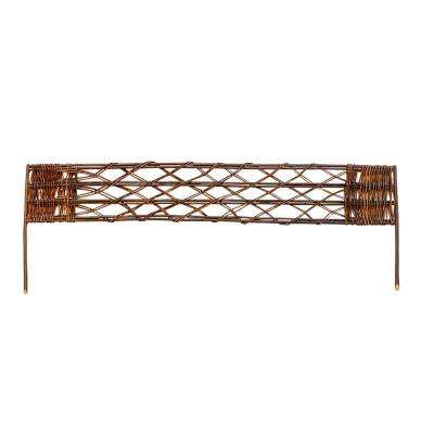 48 in. L x 2 in. W Vertical Woven Willow Edging with Cross Sections Pattern (2-Pack)