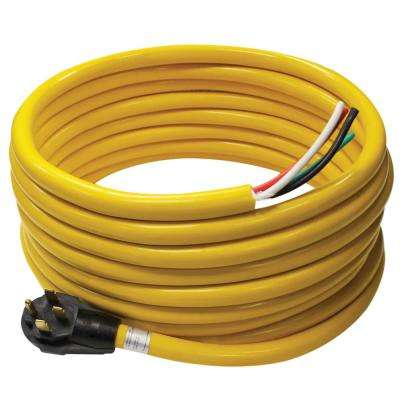 50 Amp 36 ft. RV Cord Grip Handle Plug and 6 in. Loose End
