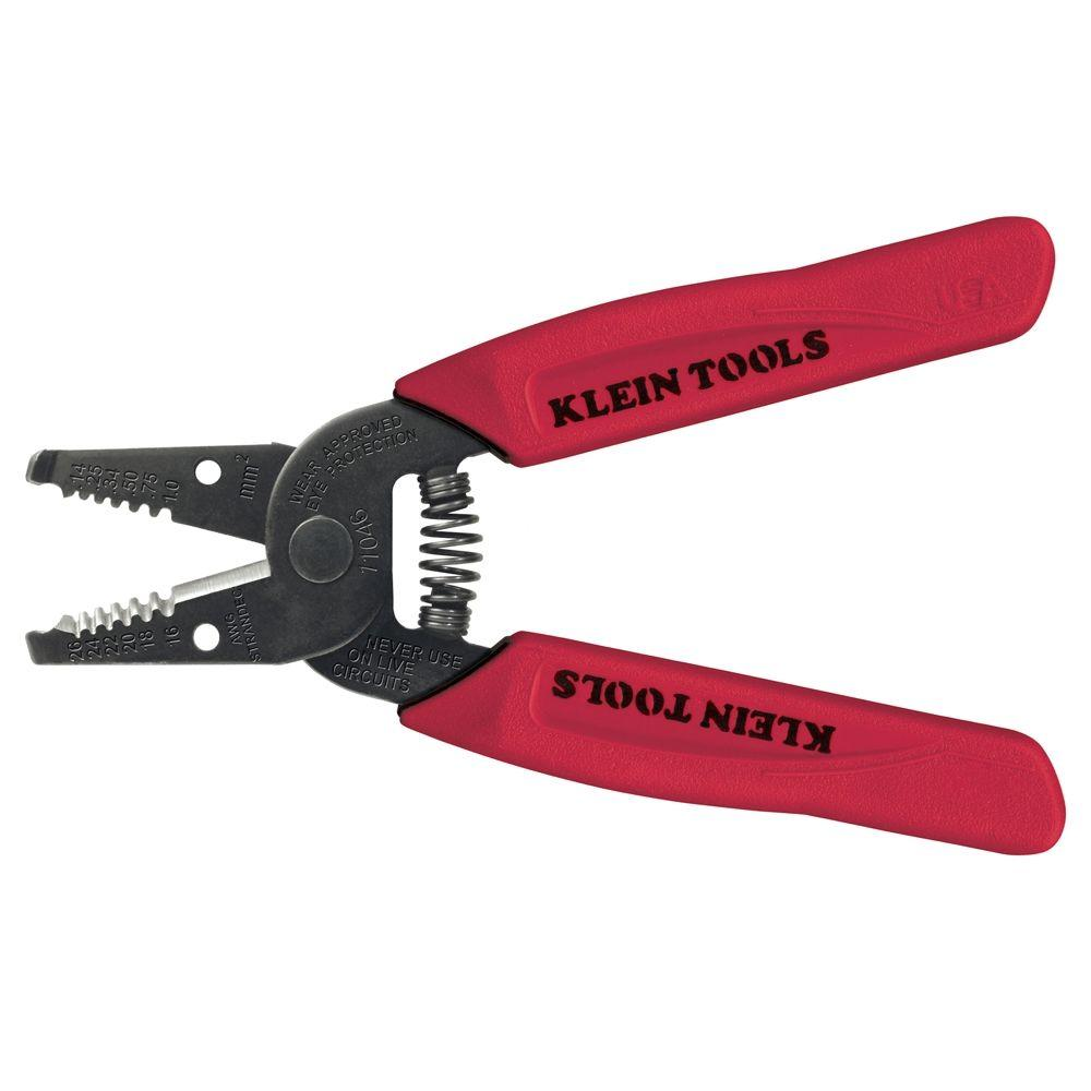 Klein Tools 6-1/4 in. Wire Stripper & Cutter for 16-26 AWG Stranded ...