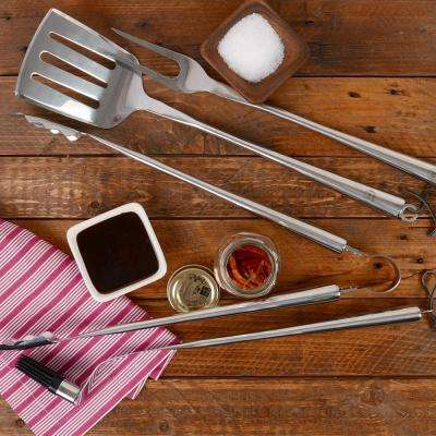 BBQ 4-Piece Grill Set in Chrome