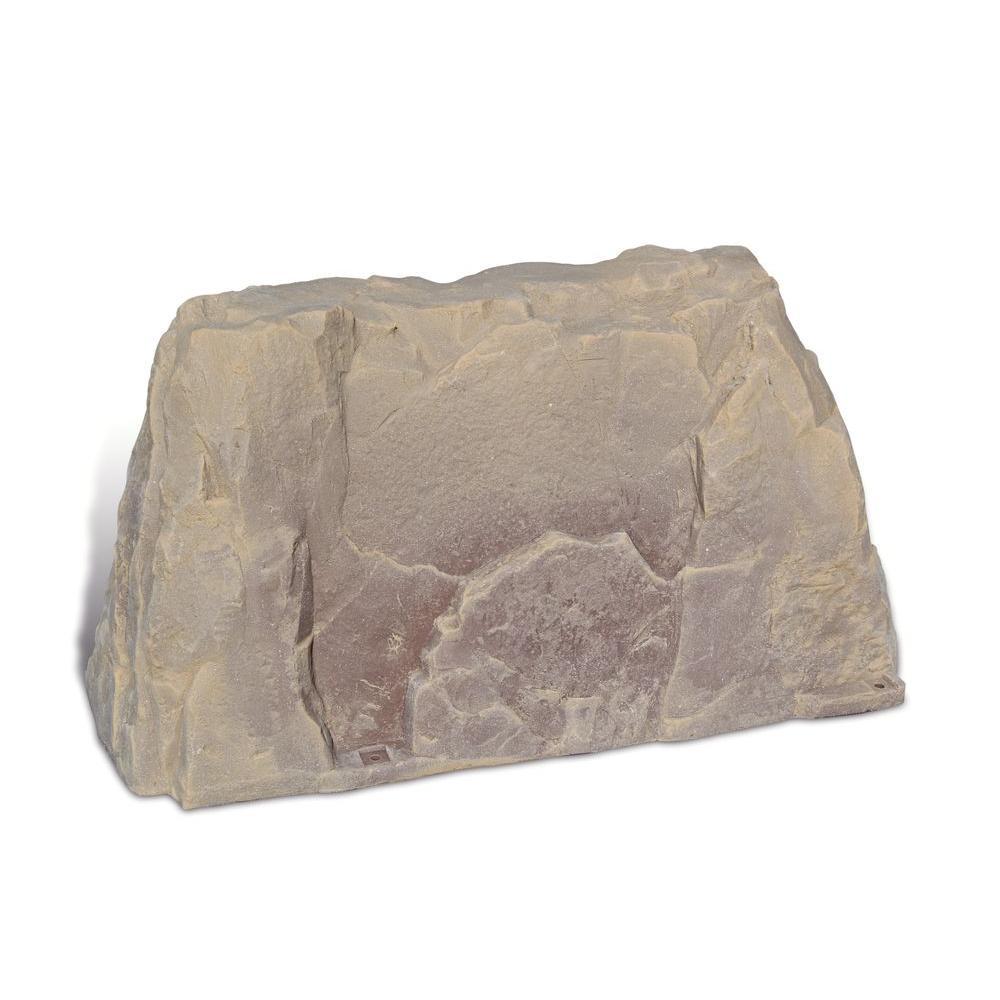 39 in. L x 21 in. W x 21 in. H Medium L Plastic Rock Cover in Tan/Brown