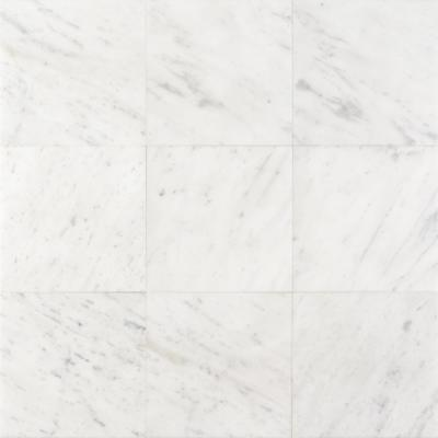 Michael Habachy Smooth Carrara 8 in. x 8 in. Limestone Floor and Wall Tile (2.15 sq. ft./Case)