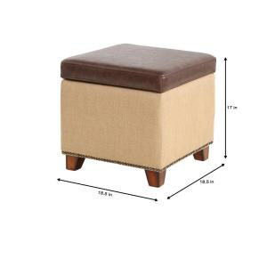 Amazing Home Decorators Collection Ethan Brown Storage Ottoman Gmtry Best Dining Table And Chair Ideas Images Gmtryco