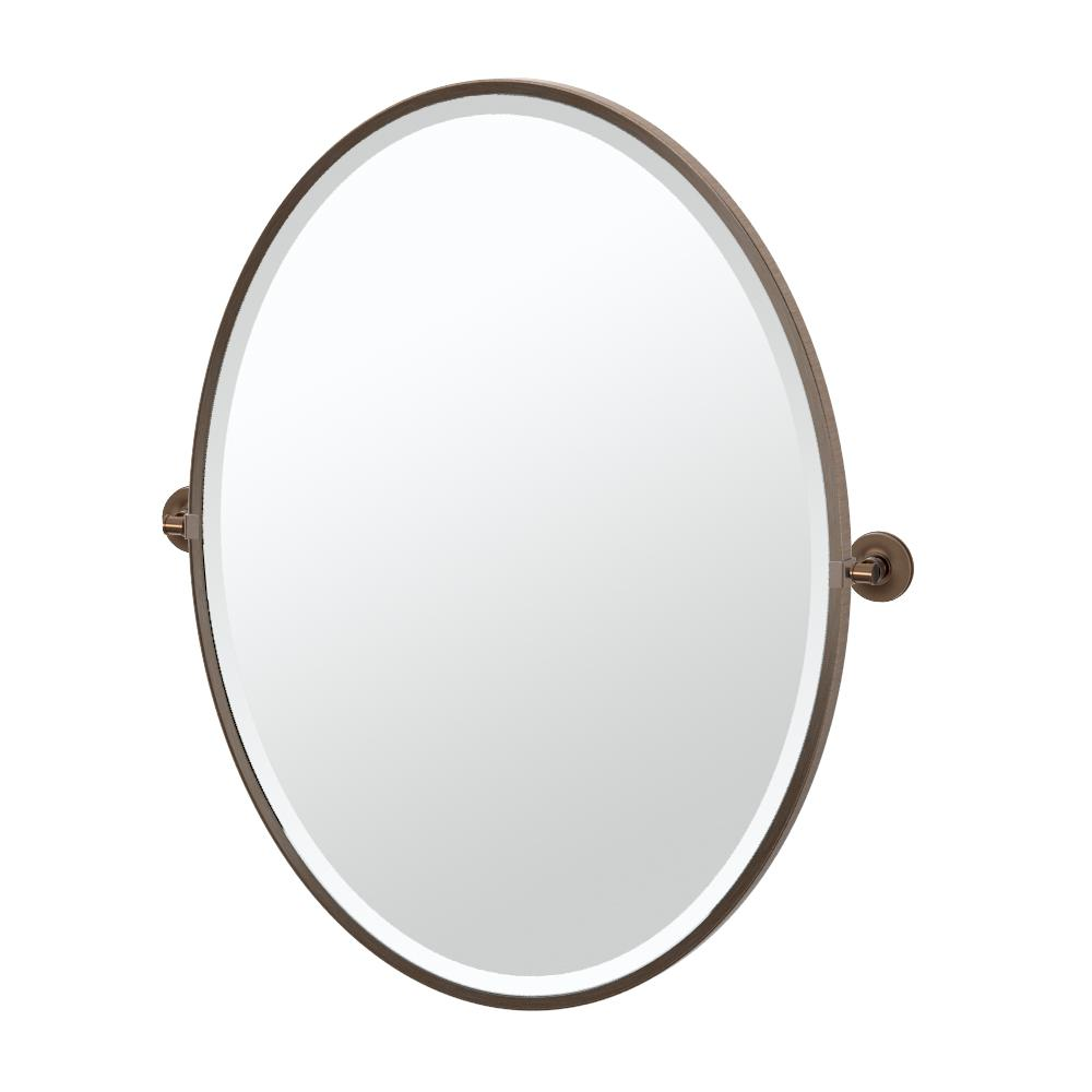 Gatco Montgomery 2825 In X 33 Single Framed Large Oval Mirror Bronze