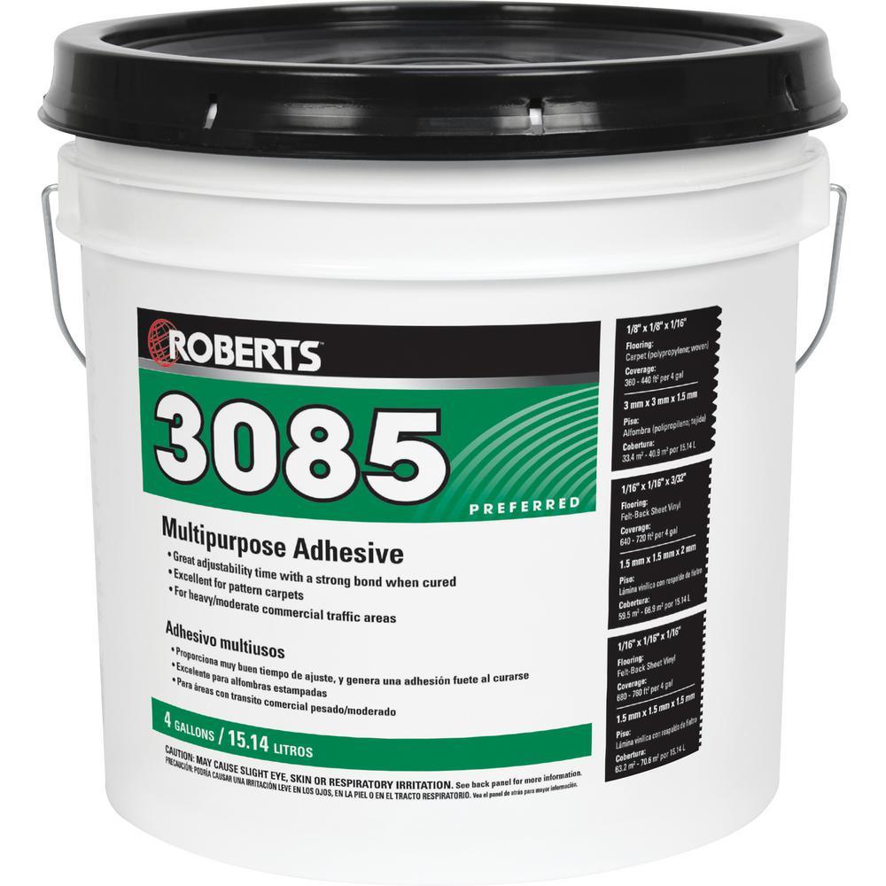 3085 4-gal. Multipurpose Carpet and Felt Back Vinyl Adhesive