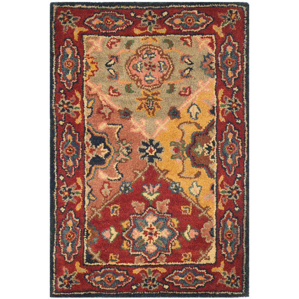 Heritage Red/Multi 2 ft. 3 in. x 4 ft. Area Rug
