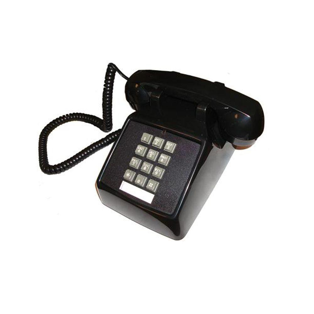 Cortelco Desk Value Line Corded Telephone - Black