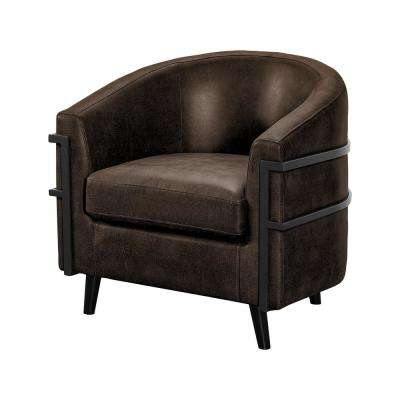 Nelson Java Upholstered Microfiber Fabric and Eucalyptus Wood Frame Chair