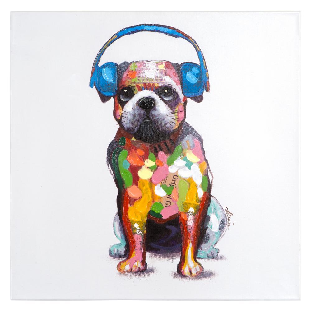 "24 in. H x 24 in. W ""Dog Beats III"" Artwork"