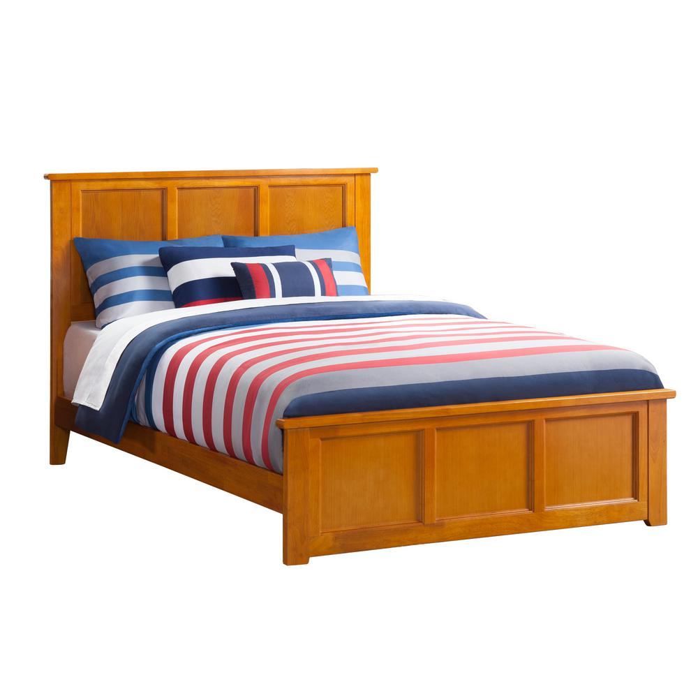 Atlantic Furniture Madison Caramel Queen Traditional Bed With