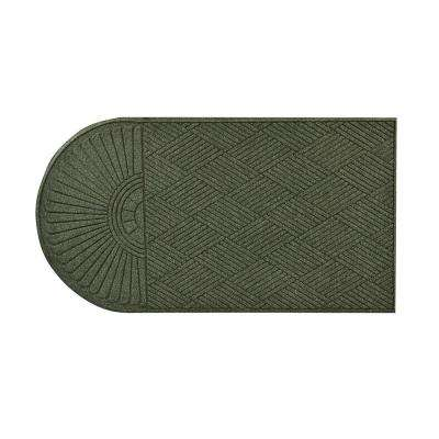 Guzzler Sunburst Hunter Green 34 in. x 72 in. Rubber-Backed Door Mat