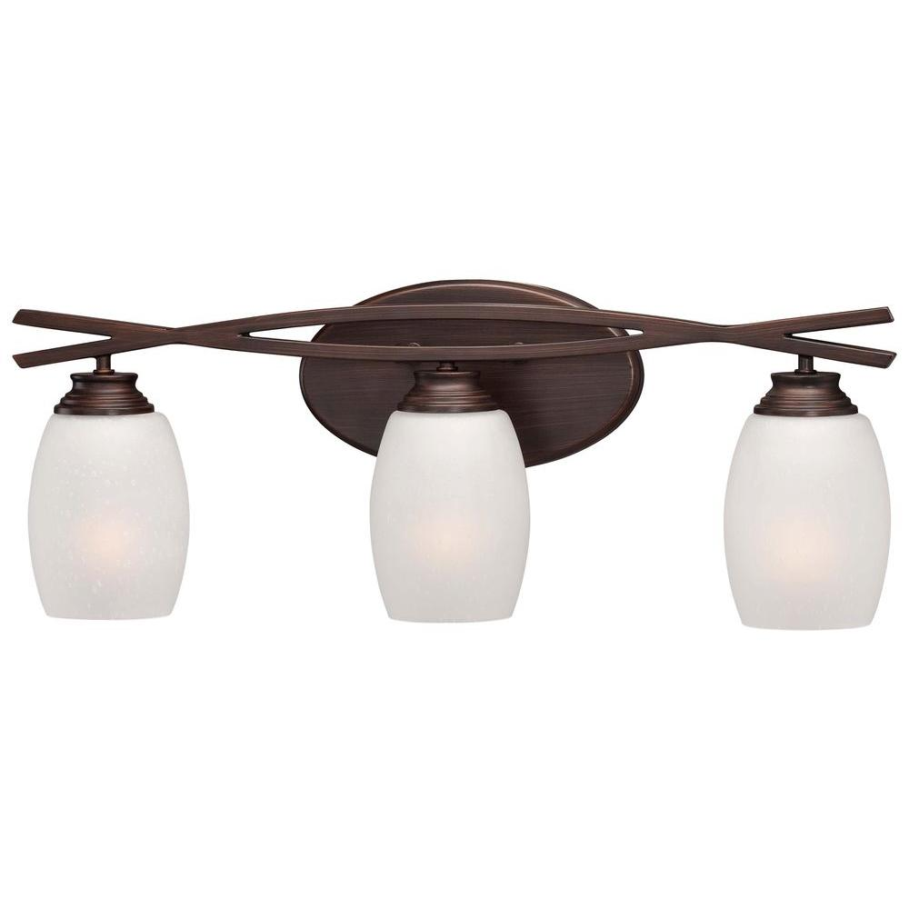 Minka Lavery City Club 3-Light Dark Brushed Bronze Bath Light