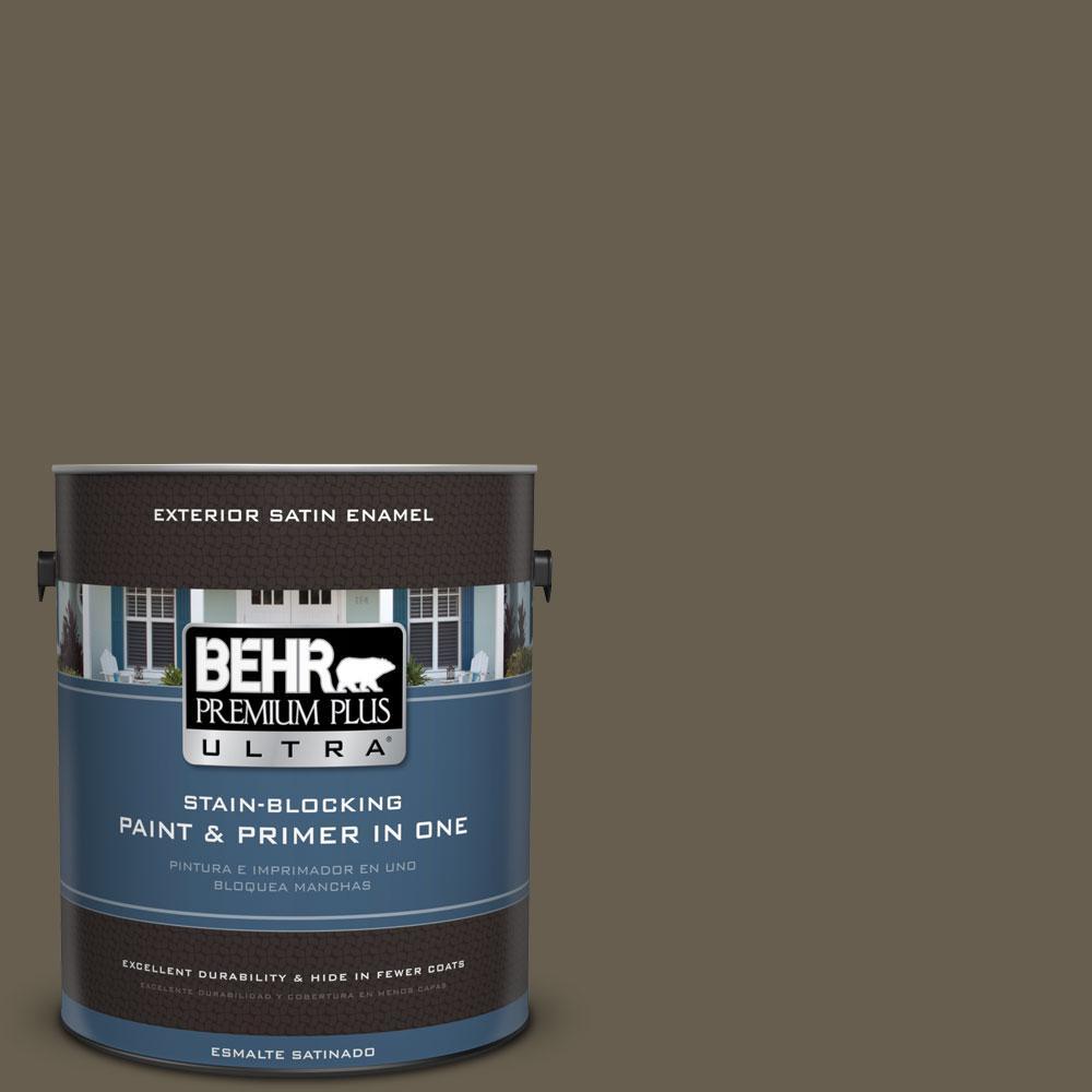 BEHR Premium Plus Ultra 1-gal. #N320-7 Primitive Satin Enamel Exterior Paint