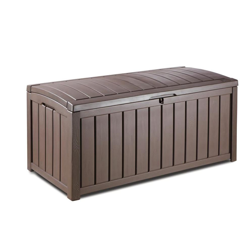 Keter Glenwood 101 Gal  Deck Box in Brown