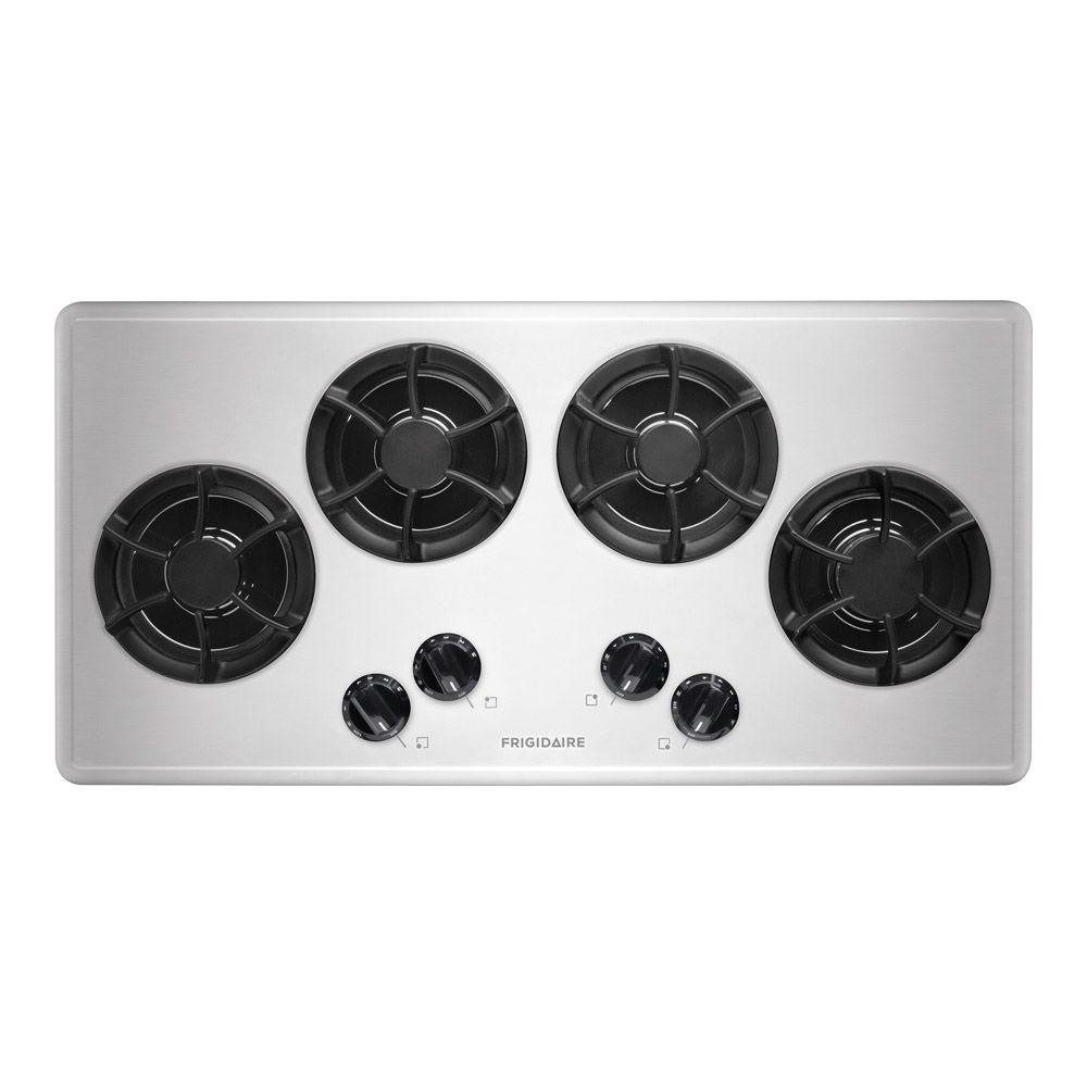 Frigidaire 36 in. Recessed Gas Cooktop in Stainless Steel with 4 Burners