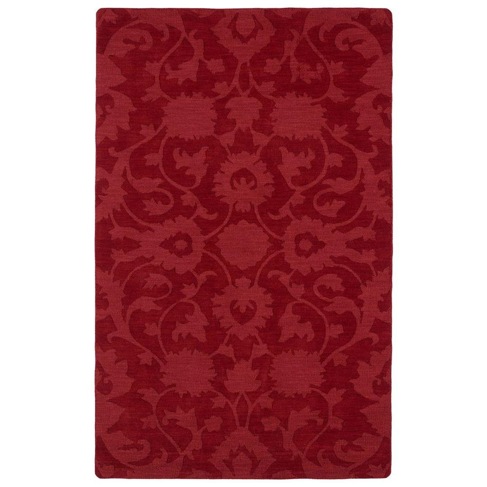 Kaleen Imprints Classic Red 3 ft. 6 in. x 5 ft. 6 in. Area Rug