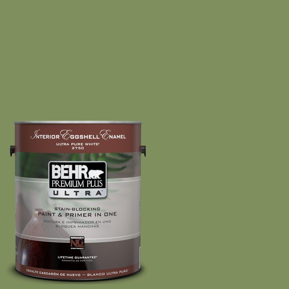BEHR Premium Plus Ultra 1-Gal. #UL210-17 Green Energy Interior Eggshell Enamel Paint