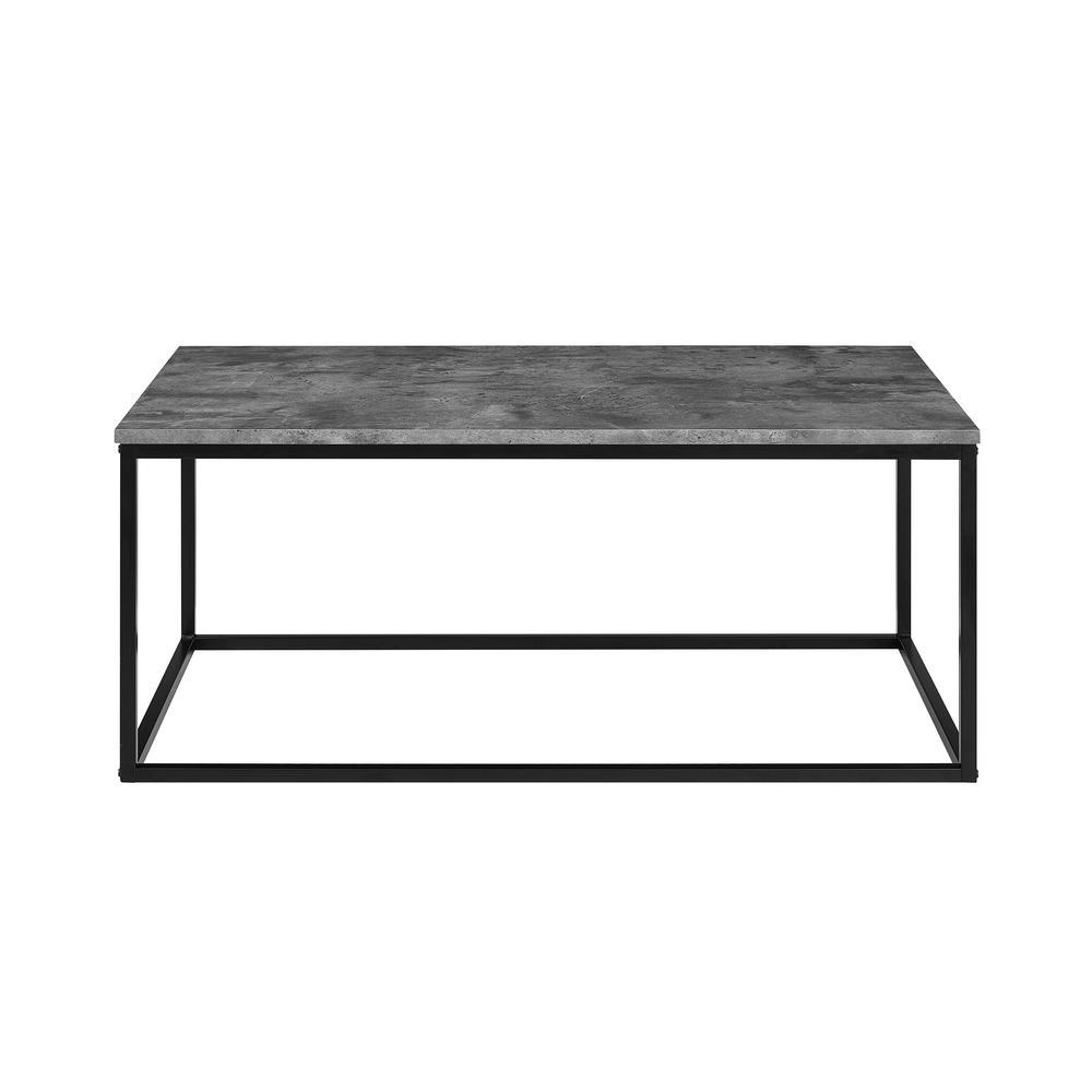 Walker Edison Furniture Company 42 In Dark Concrete Mixed Material Coffee Table