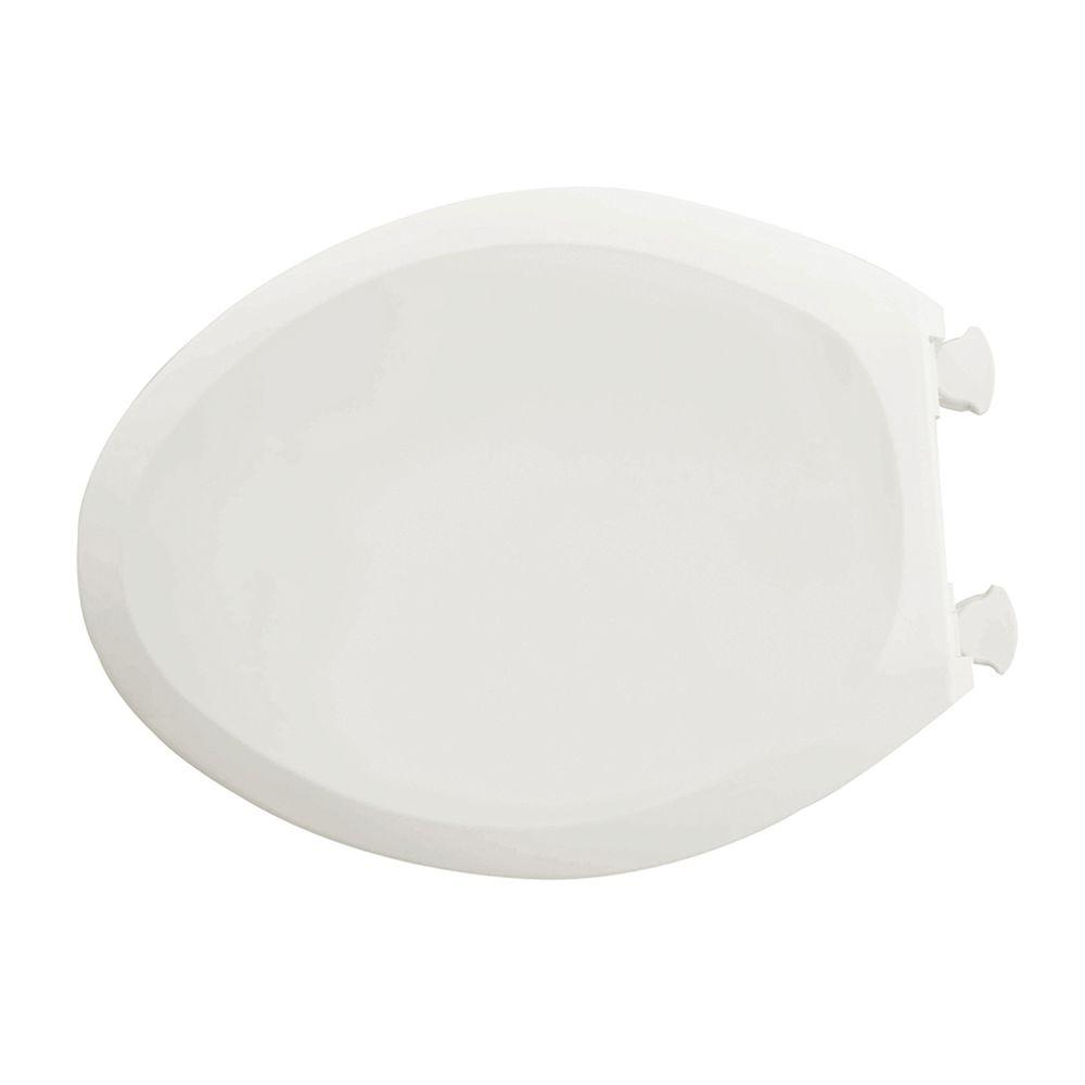 Champion Slow Close Elongated Closed Front Toilet Seat in White