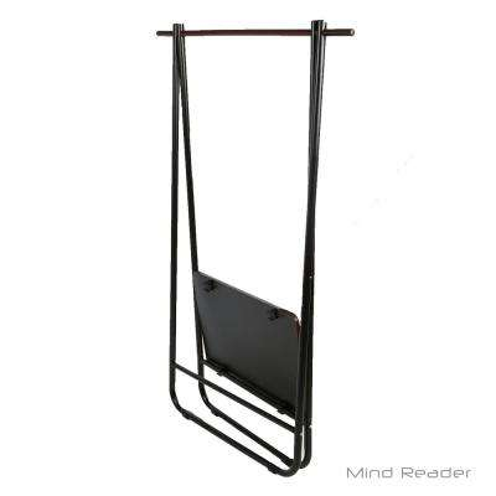 35.63 in. W x 54.92 in. H Black Metal Garment Rack with Shelf
