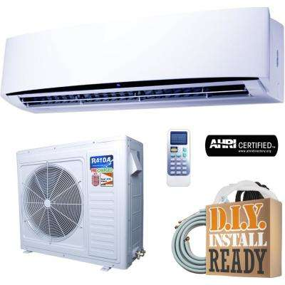 Super Efficiency GWi Series 33,000 BTU 2 75 Ton Inverter Ductless Mini  Split Air Conditioner and Heat Pump - 230V/60Hz