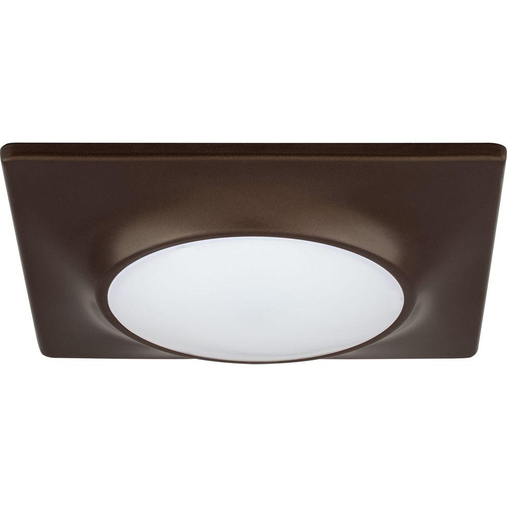 Square 1 Light Antique Bronze Led