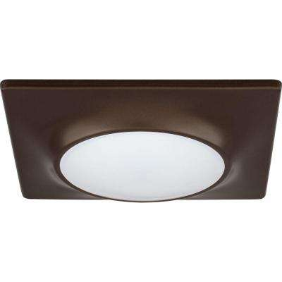 7-1/4 in. Square 1-Light Antique Bronze LED Surface and Recessed Mount Light