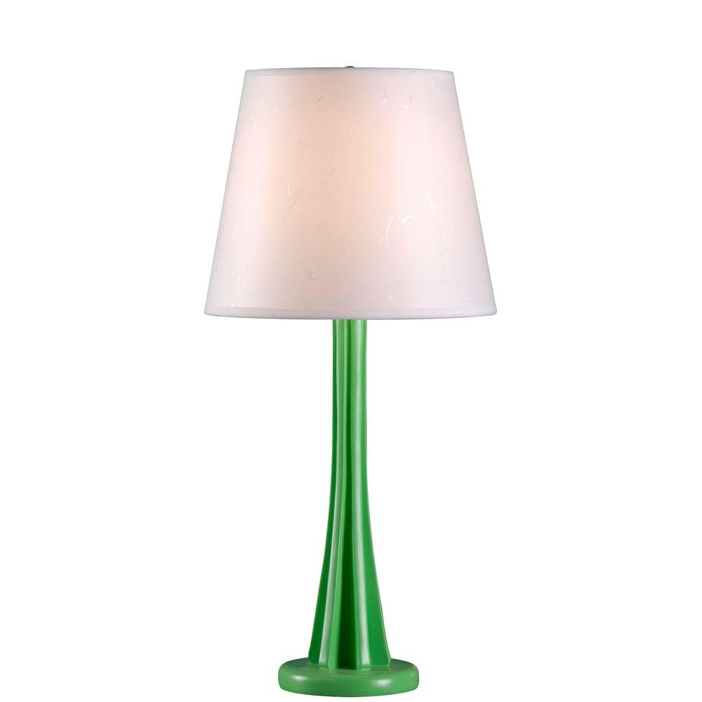 Kenroy home swizzle 27 in lime table lamp 32679lime the home depot lime table lamp mozeypictures