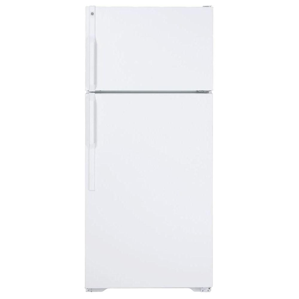 GE 28 in. W 15.5 cu. ft. Top Freezer Refrigerator in White, Energy Star