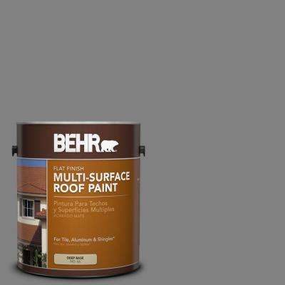 1 gal. #RP-34 Deep Gray Flat Multi-Surface Roof Paint