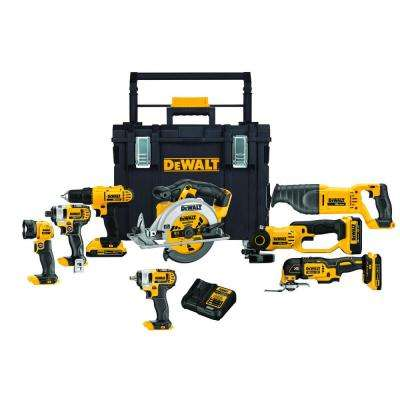 20-Volt MAX Lithium-Ion Cordless Combo Kit (8-Tool) w/(2) 2Ah and (1) 4Ah 20-Volt MAX Batteries and ToughSystem Box