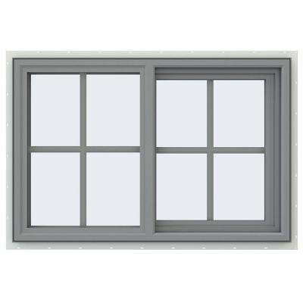 V-4500 Series Sliding Vinyl Windows with Grids