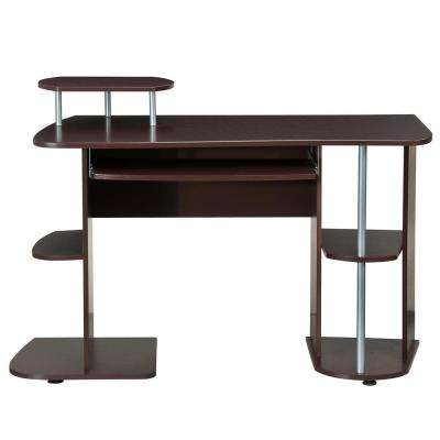 Chocolate Complete Computer Workstation Desk with Storage