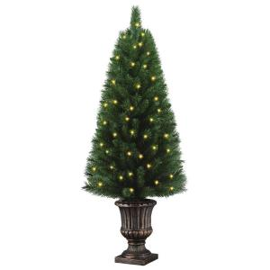 4 ft. Potted Artificial Christmas Tree with 50 Clear Lights
