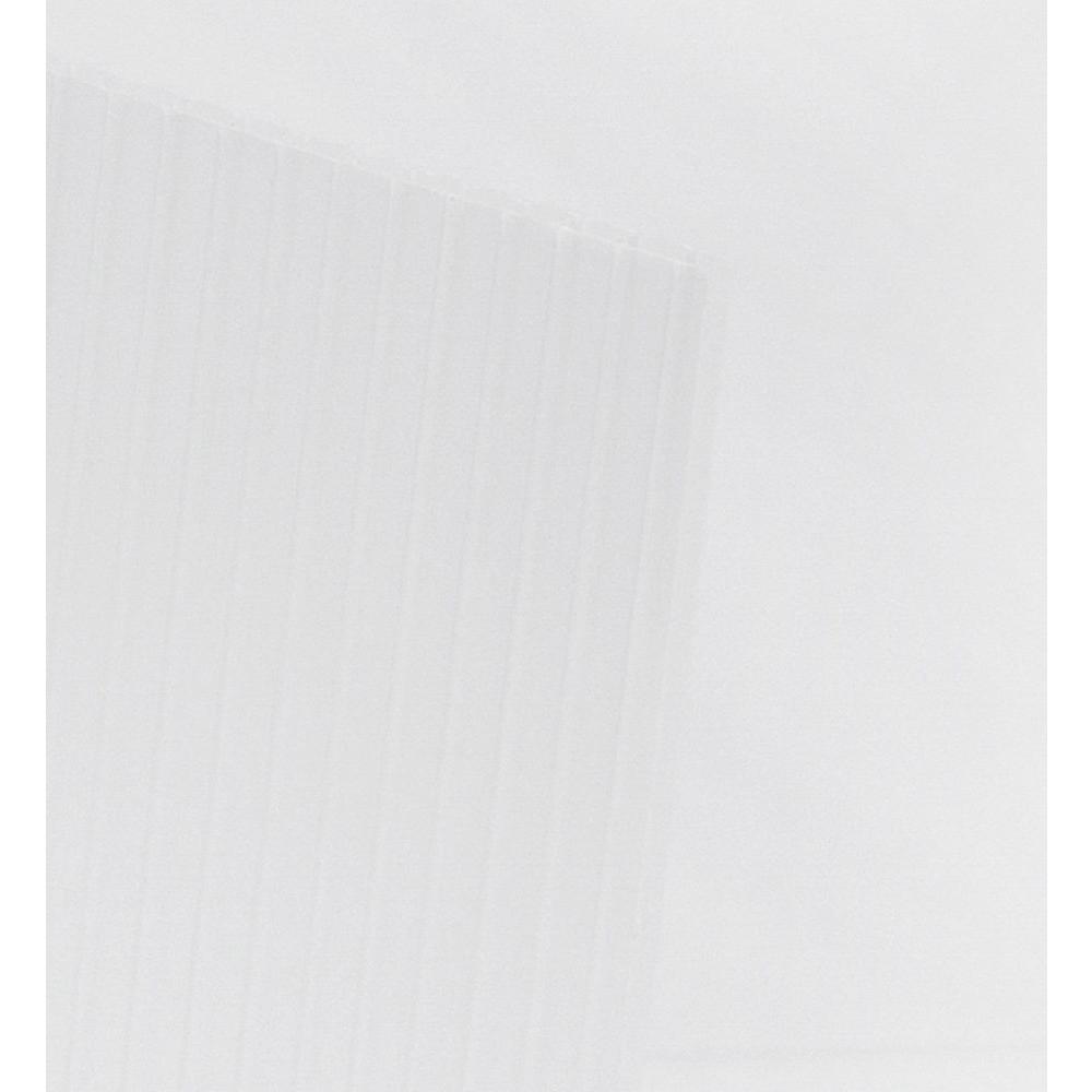 48 In X 96 In X 0 157 In Clear Corrugated Plastic Sheet 10 Pack Cor4896 Clr The Home Depot