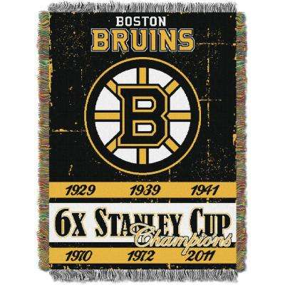Bruins Multi Color Commemorative Tapestry Throw