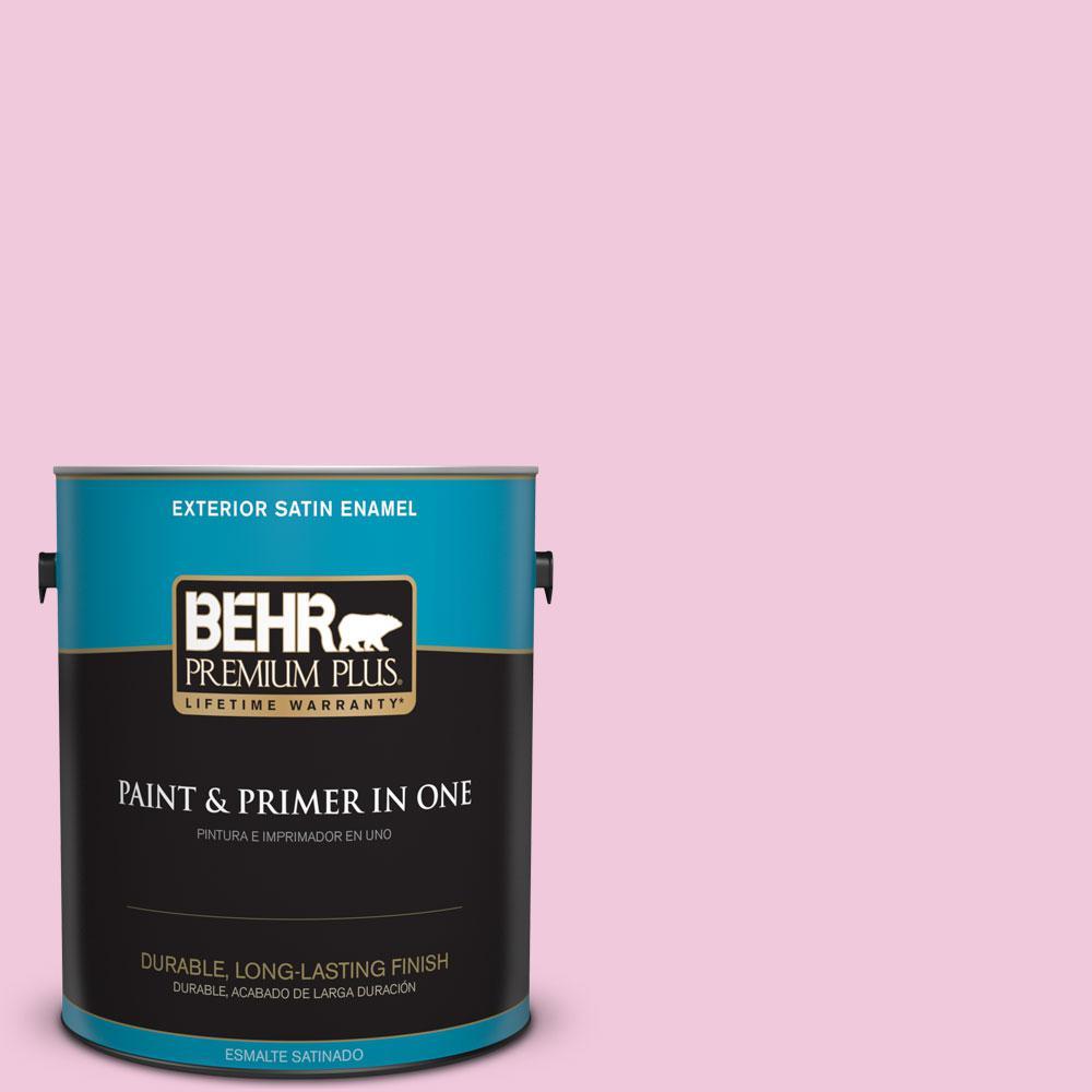 BEHR Premium Plus 1 gal. #P130-1 Piggy Bank Satin Enamel Exterior ...