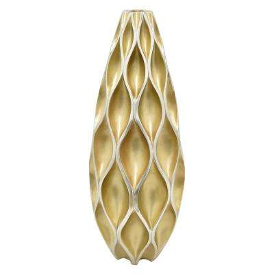 10.5 in. Gold Decorative Vase