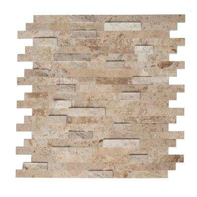 Sandy 11.75 in. x 11.60 in. x 8 mm Self Adhesive Wall Tile Mosaic in Tan