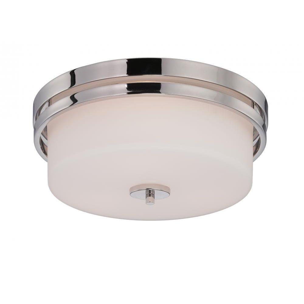 Filament Design Glomar 3-Light Polished Nickel Incandescent Ceiling Flush Mount
