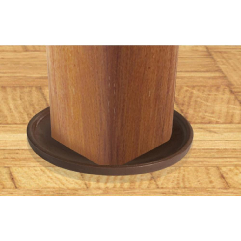 Slipstick 3 In Chocolate Brown Non Slip Rubber Floor Surface Protector Pads Round Set Of 4 Grippers