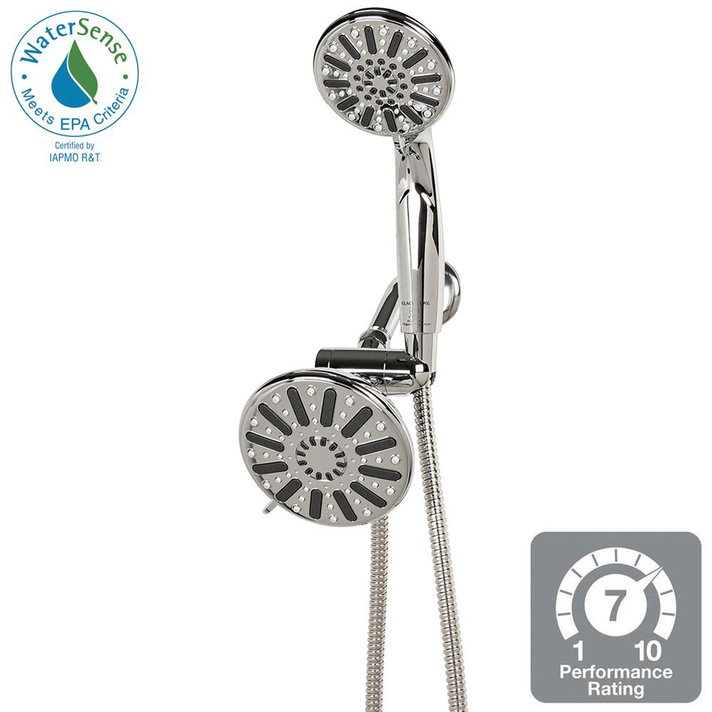 Glacier Bay 6-Spray Hand Shower and Showerhead Combo Kit in Chrome