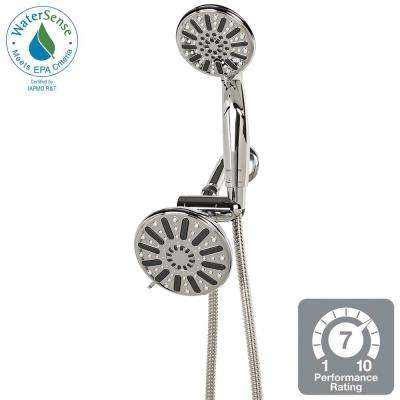 6-Spray Hand Shower and Showerhead Combo Kit in Chrome